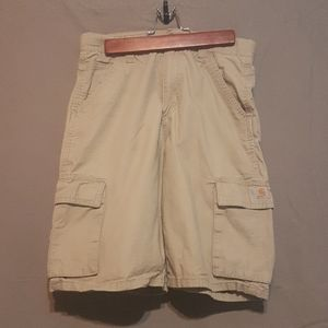 2/$25 Carhartt sand colored shorts